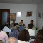 Victoria Portas diplomada en relacións laborais nunha charla con membros de Marusía